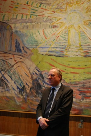 Munch Museum Director Stein Olav Henrichsen is under pressure, after the highly paid management team he put in place ended up with a large budget overrun. The city is now stepping in and ordered a halt to staff cuts. PHOTO: newsinenglish.no