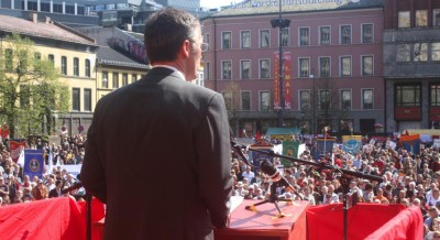 Prime Minister Jens Stoltenberg would once again be the keynote speaker at Labour Day celebrations on May 1st in Oslo. He planned to speak at Youngstorget at 12:30pm, before the annual Labour Day parade begins. PHOTO: Arbeiderpartiet