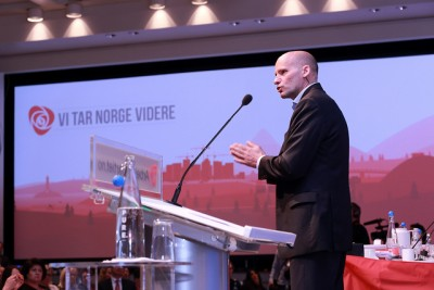 """Lippestad called for a """"new, fundamental debate on values,"""" claiming that Norway needs to deal with the radical thoughts of those on the far right and come to terms with its new position as a multi-cultural society. PHOTO: Arbeiderpartiet"""