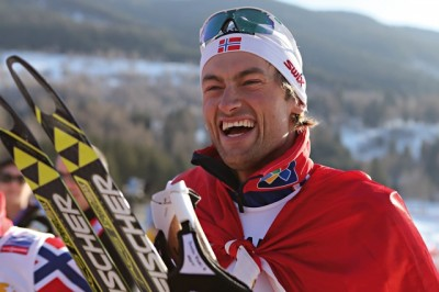 Norwegian skiing champion Petter Northug was smiling a lot during the past season, and went on to win the overall World Cup once again. PHOTO: Nordic Skiing World Championships/Val de Fiemme2013