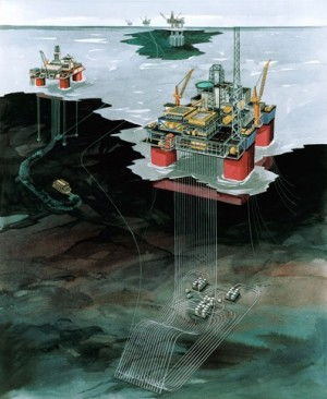 """Oil companies make long-term investments like here on the """"Snorre"""" field, and changes in fiscal policy can scare them away, analysts say. ILLUSTRATION: Statoil"""