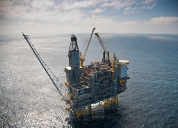 Statoil's new oil discovery is located just north of the Grane Field pictured here. PHOTO: Statoil/Øyvind Hagen