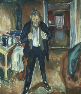 "Edvard Munch's painting entitled ""Sleepless Night. Self-Portrait in Inner Turmoil"" is among his lesser-known paintings due for public display. Both the major exhibition of Munch's art and the decision this week to build a new Munch Museum have come amidst much political turmoil in Oslo. PHOTO: Munch Museet"