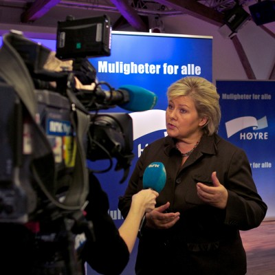 Erna Solberg, leader of Norway's Conservative Party, has been getting lots of media attention and is a leading candidate to be the country's next prime minister. PHOTO: Høyre