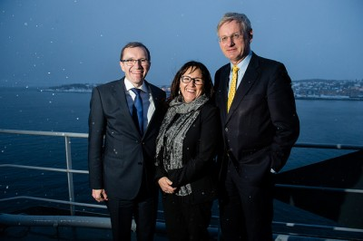 Norwegian Foreign Minister Espen Barth Eide (left), new Arctic Council leader Leona Aglukkaq from Canada and Swedish Foreign Minister Carl Bildt, who most recently headed the council, at a meeting in Tromsø earlier this year. All ultimately agreed to grant observer status at the council to China, the EU and several other countries including Japan. PHOTO: Utenriksdepartementet