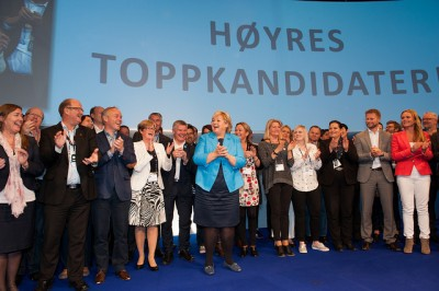 The Conservative Party (Høyre)'s team of politicians is making strides in attracting the immigrant vote. PHOTO: Høyre
