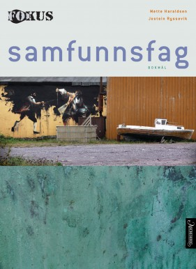 """Cover of the 2013 Social Studies textbook """"Fokus,"""" widely used in upper secondary schools in Norway. It conveys an unbalanced view of politics, according to reviewers. Photo: Aschehoug"""