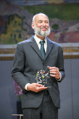 Pierre Deligne with his Abel Prize for 2013, awarded on Tuesday in Oslo. PHOTO: The Abel Prize