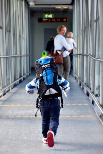 Traveling with children may get easier after a new security queue opens for families next week at Oslo's main airport at Gardermoen. It's part of an major airport expansion project. PHOTO: OSL