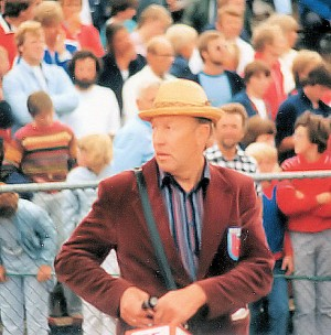 """Arne Haukvik, the charismatic """"man in the straw hat,"""" founded the Bislett Games in 1966. He was for many years the director of the annual track and field event, as well as a politician for the Center Party. Another of his trademarks was his traditional """"strawberry party,"""" when he invited all the athletes, sponsors and press to his own garden each year on the day before the Games started. Haukvik died in 2002, aged 76. The strawberry party tradition continues, and this year was hosted at the Russian Embassy. PHOTO: Wikipedia Commons"""