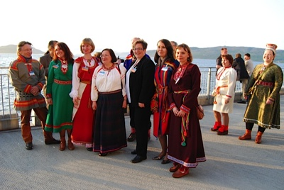 Representatives of indigenous peoples added color and afterthought to the Barents Summit. PHOTO: Nina Berglund