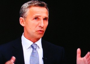 "Prime Minister Jens Stoltenberg said that ""my job is to maintain stability and predictability"" in the Norwegian economy, which ""blossomed"" during his last eight years in office. PHOTO: TV2 screen grab/newsinenglish.no"
