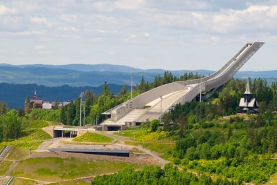The cost of building Oslo's Holmenkollen Ski Jump ended up nearly four-times their initial budget estimate, and now the city will need to invest more than NOK 100 million more for its use in a Winter Olympics in 2022. PHOTO: newsinenglish.no
