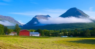 Norwegian farms, like this one in Troms in Northern Norway, add to the cultural landscape but are mostly small and face difficult farming conditions. Agriculture Minister Sylvi Listhaug advocates bigger, if fewer farms to make them more efficient. PHOTO: newsinenglish.no