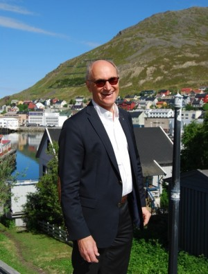 Rune Adolfsen of Statoil was still smiling under an unusually warm sun in Honningsvåg just before the weekend, stressing that exploration prospects in the Barents remain bright even though Statoil has put development of its Johan Castberg field on hold. PHOTO: newsinenglish.no/Nina Berglund