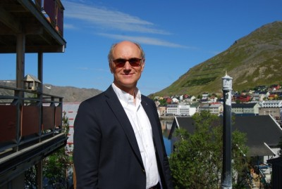 """Statoil executive Rune Adolfsen was back in Honningsvåg last week and confirmed that Statoil has halted work on the local terminal project, but said he thinks it would """"contribute to the community."""" PHOTO: newsinenglish.no/Nina Berglund"""