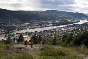 View of Drammen, an ever-more dynamic city which will also have a new newspaper shortly.