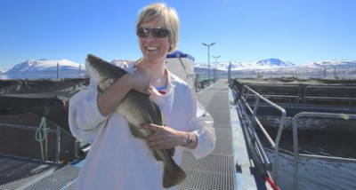 Researcher Tale Marie Karlsson Drangsholt of food research institute Nofima has been collecting some promising results on finding cod that could be better suited for fish-farming. PHOTO: Nofima
