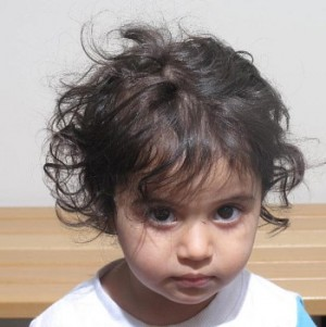 Police have issued this photo of the child missing after her mother was found murdered in a house in Grua. PHOTO: Politiet