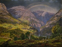 """JC Dalh's painting """"From Stalheim"""" is part of the national heritage in Norway, and now available for viewing in high resolution on the Internet. PHOTO: National Museum"""
