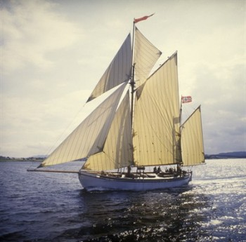 """The 116-year-old  """"Wyvern"""" in all her glory, before sinking in the Baltic on Thursday. PHOTO: Stavanger Maritime Museum/MUST"""