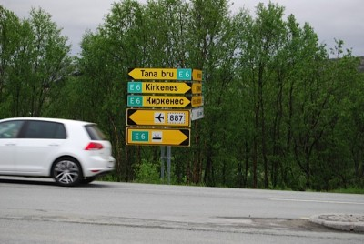In far northern Norway, near the border to Russia, road signs are written in Russian as well as Norwegian because of all the Russians living, working and traveling there. Since Russia went into Crimea to secure Russians living there, the country could do the same in Norway if it perceived or concocted similar threats. PHOTO: newsinenglish.no