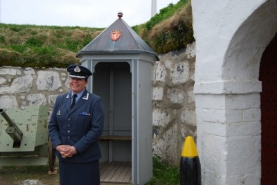 Major Elisabeth Eikeland is the commandant of Vardø's oldest landmark, its unique, star-shaped fortress not far from Steilneset. Eikeland is from southern Norway, but now claims she never wants to leave Vardø. PHOTO: newsinenglish.no/Nina Berglund