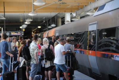 The Airport Express Train serving Oslo's main airport at Gardermoen (Flytoget) is more popular than ever, but capacity is strained because of strong airport passenger growth. PHOTO: newsinenglish.no