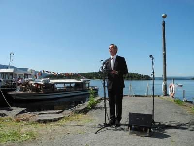 Prime Minister Jens Stolenberg attended several memorials on Monday, including the Labour Party youth's gathering near Utøya, site of the 2011 massacre. PHOTO: Statsministerens kontor
