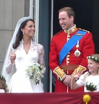 Duchess Kate and Prince William on the day of their wedding in 2011. On Monday, the couple had their first baby. PHOTO: Wikipedia Commons