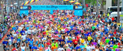 """Runners taking part in a Rock 'n' roll Marathon and Half Marathon in San Diego, California. The event is organized by American company Competitor Group, which claims to have """"revolutionized the running industry ... combining entertainment with running in a big way."""" PHOTO: competitorgroup.com"""