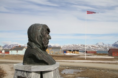 A monument to Amundsen is found on Norway's Arctic archipelago of Svalbard, where modern-day experts are studying polar issues, not least climate change. PHOTO: Utenriksdepartementet