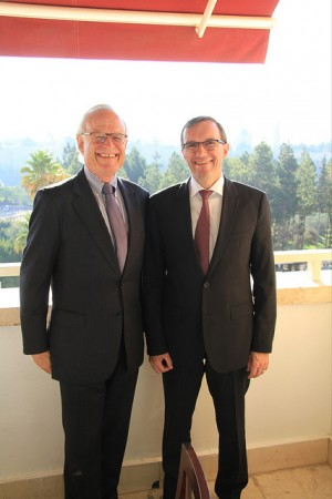 Eide also met Martin Indyk, the US special envoy to the Middle East, while in Jerusalem on Monday. PHOTO: Utenriksdepartementet/Frode Overland Andersen
