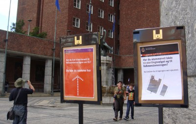 Follow the signs outside Oslo's City Hall (Rådhuset) to the voting booths where expats living in Oslo can also have their say on whether Oslo should host an Olympics in 2022. PHOTO: newsinenglish.no