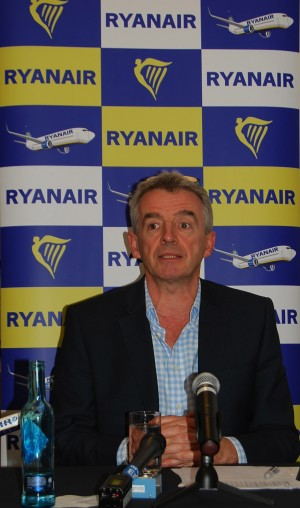 Michael O'Leary of Ryanair had more critical comments about politicians, regulators and now even a judge in Norway during his latest visit. PHOTO: newsinenglish.no/Nina Berglund