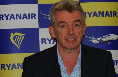 Ryanair's Michael O'Leary isn't backing away from his claims that any challenges to Ryanair's authority must be handled in an Irish court. PHOTO: newsinenglish.no/Nina Berglund