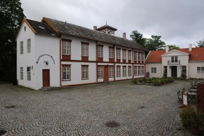 The Ringve Museum, shown here before it was hit by fire Monday morning, is considered a national treasure in Norway. PHOTO: newsinenglish.no