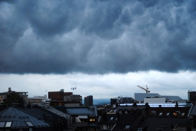 Thunderstorms have been rolling over Oslo and many other places in southern Norway, and hit a climax during the weekend. PHOTO: newsinenglish.no