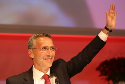 Jens Stoltenberg was bidding farewell this week after eight years as Norway's prime minister. Now he'll lead the largest opposition party, Labour, in Parliament. PHOTO: Arbeiderpartiet