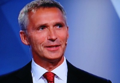 Jens Stoltenberg is offering some unexpected tax relief to voters even after they voted his government out of office. PHOTO: NRK screen grab/newsinenglish.no
