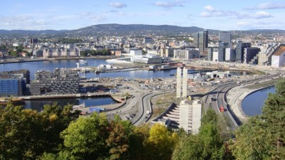 The views over the city are also panoramic from Ekeberg. In the center, Oslo's Opera House. PHOTO: newsinenglish.no