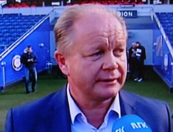 Per-Mathias Høgmo was named Norway's new national men's football coach on Friday and had to select his first squad on Monday. PHOTO: NRK screen grab/newsinenglish.no