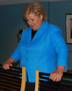 Erna Solberg, Norway's new prime minister-elect, is now gearing up for the next four weeks of intense negotiations to form a new non-socialist government coalition. PHOTO: newsinenglish.no/Nina Berglund