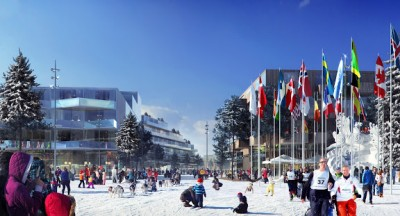 Oslo city officials now have a green light to move forward with their plans to bid for the Winter Olympics in 2022. They see the project as a catalyst for redevelopment of Oslo's east side, like here in Groruddalen. ILLUSTRATION: Snøhetta/Cowi/MIR