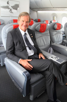 Norwegian's chief executive Bjørn Kjos was all smiles and proud of his airline's new Dreamliners, until they turned into a nightmare. PHOTO: Norwegian Air