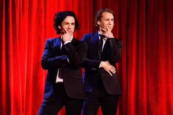 """The """"Ylvis"""" brothers (Bård and Vegard Ylvisåker) without their fox costumes. PHOTO: ylvis.com"""