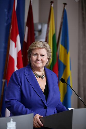 Erna Solberg at Nordisk Råd (statsministermøte). PHOTO: Statsministerens kontor