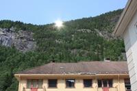 Reflected sunlight will now shine down on the town of Rjukan. PHOTO: Tinn kommune