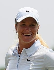 Suzann Pettersen can smile all the way to the bank after winning another tournament over the weekend. PHOTO: Wikipedia