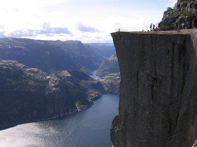 Preikestolen has become an even more popular destination in western Norway, with tourists visiting at their own risk. PHOTO: Wikipedia